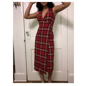 Urban Outfitters Plaid Wrap Dress